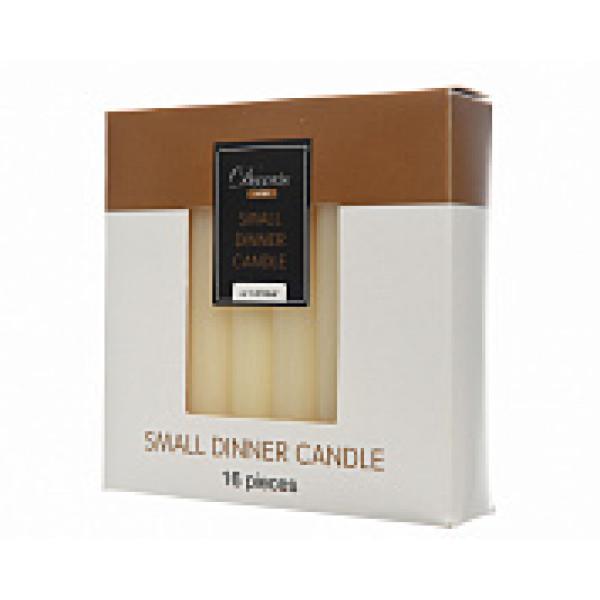 Набор свечей из воска д.1,3x10,5 см, (уп=16 шт), слоновая кость