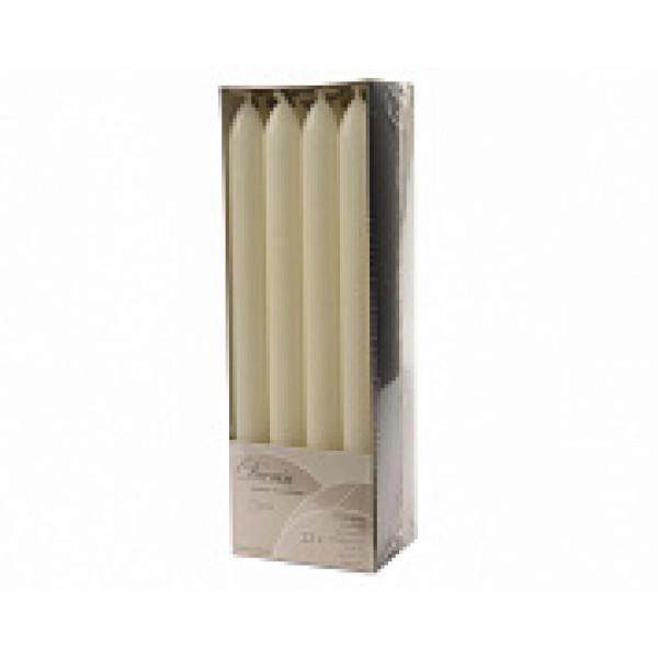 Набор свечей из воска д.2x23 см, (уп=12 шт), слоновая кость
