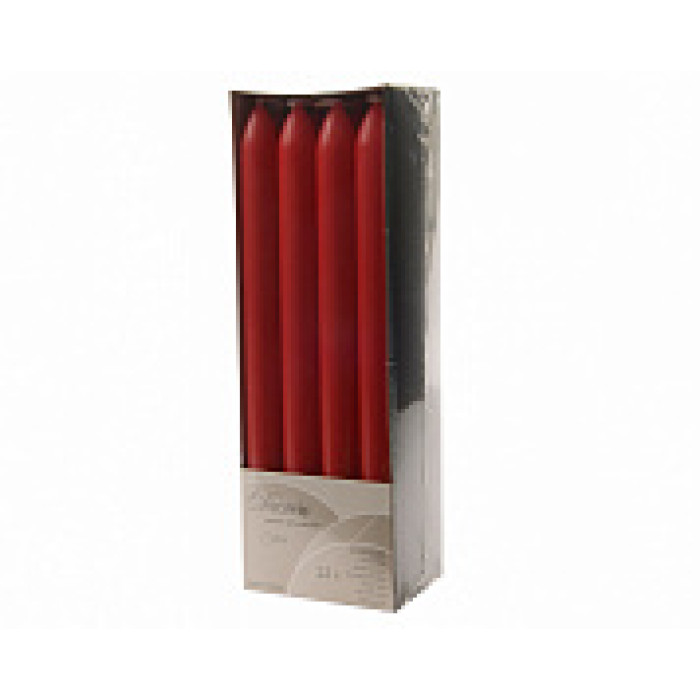 Набор свечей из воска д.2x23 см, (уп=12 шт), красный