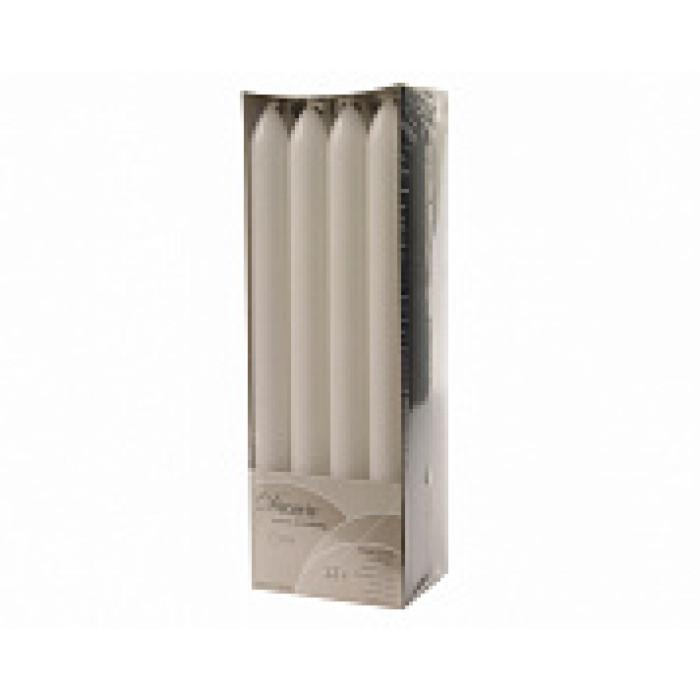 Набор свечей из воска д.2x23 см, (уп=12 шт), белый