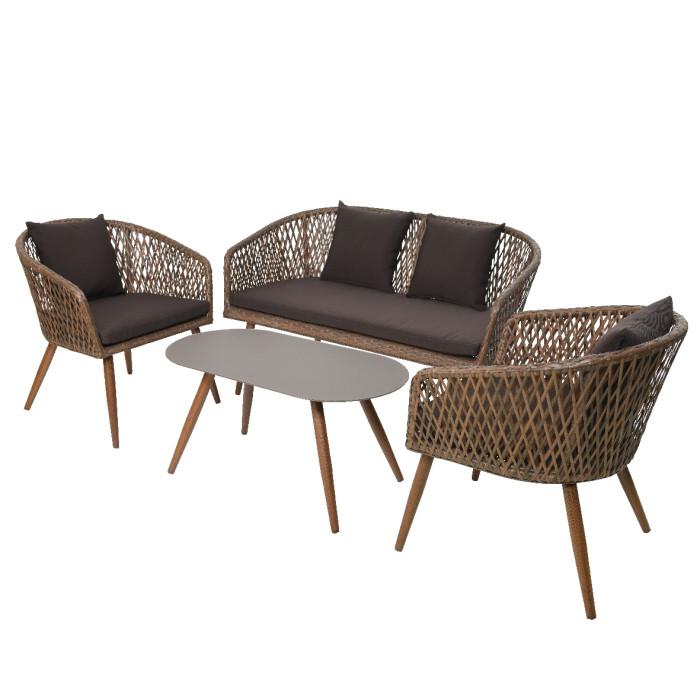 Набор садовой мебели Palermo Brown