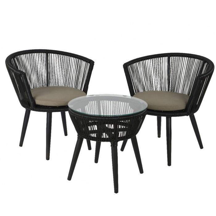 Набор садовой мебели Copenhagen Black