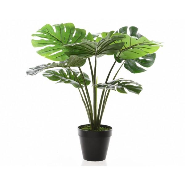 Искусственное растение Monstera deliciosa в горшке, 16x60 см