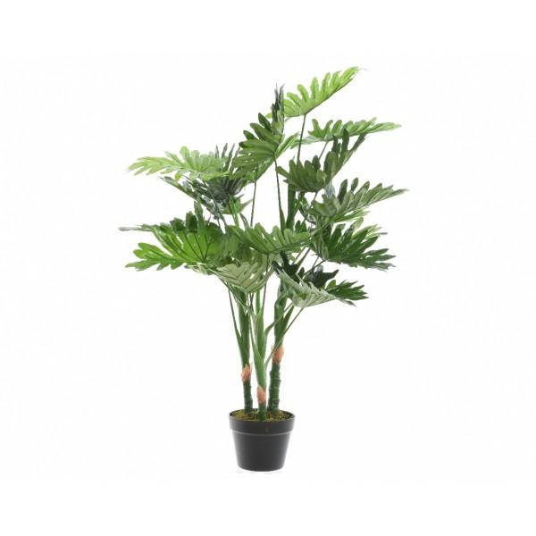 Большое искусственное растение Philodendron лучистый в горшке, 16x100 см