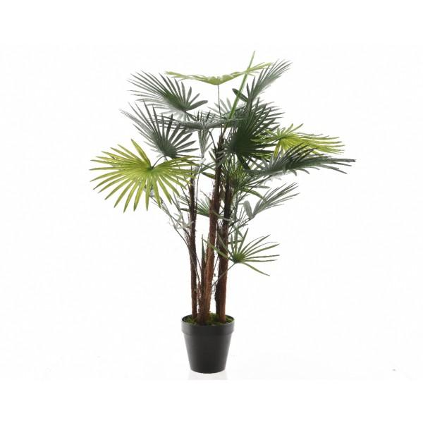 Большое искусственное растение Latania Loddigesii лучистый в горшке, 30x90 см