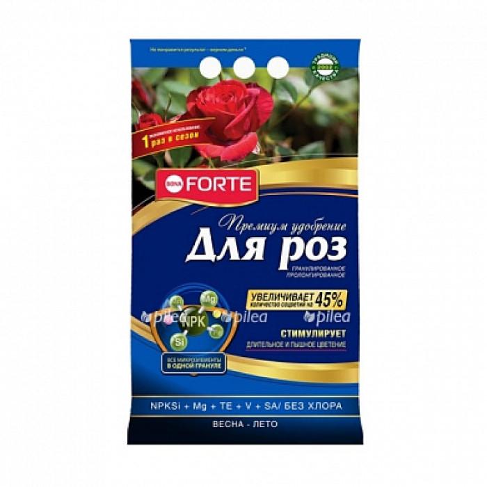 Bona Forte Удобрение ПРЕМИУМ гранулированное пролонгированное Для роз с биодоступным кремнием